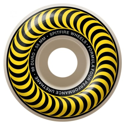 Spitfire - 55mm (99a) Formula Four Classics Skateboard Wheels (Yellow)