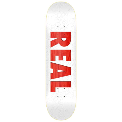Real Team Bold Series White Deck 8.5""