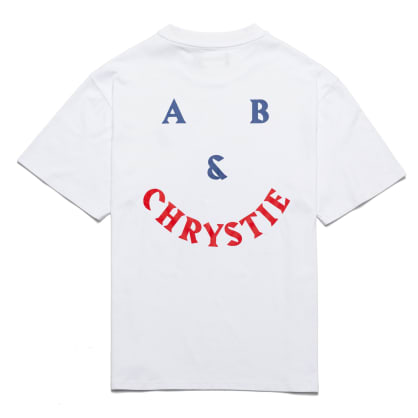 Chrystie NYC - A&B Chrystie smile logo T-shirt / White