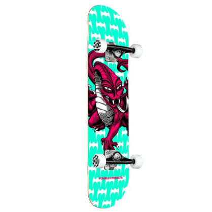 Powell Peralta Cab Dragon One Off Teal 291 Teal Complete Skateboard - 7.75