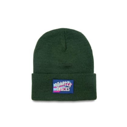 Quartersnacks Rubber Label Beanie - Green