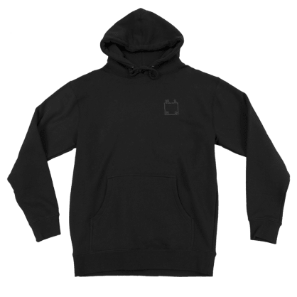 WKND - Reflective Hoodie - Black/Silver