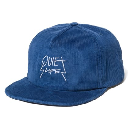 Quiet Life Metal Cord Snapback Hat Blue