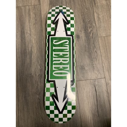 Stereo Green Checkered 7.5 Deck