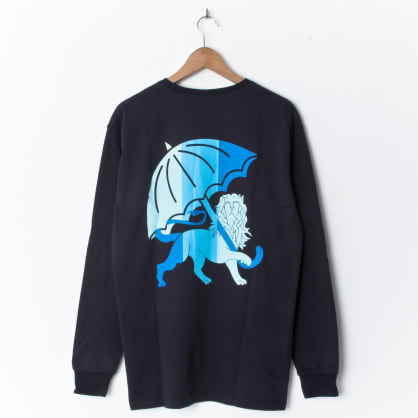 Hélas King Longsleeve Navy (Back Print)