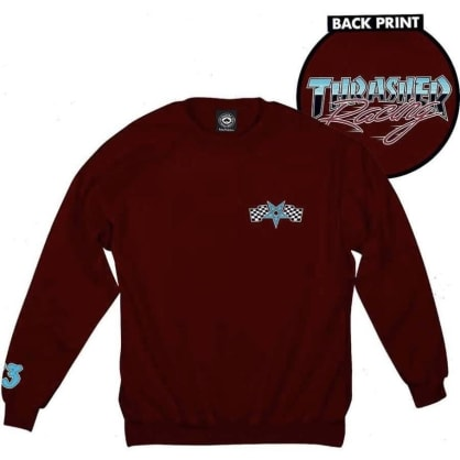 Thrasher Magazine Racing Maroon Crewneck Sweatshirt