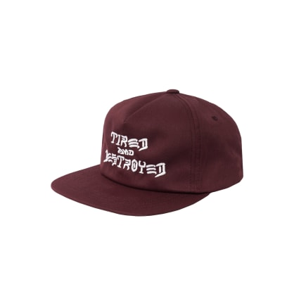 Tired x Thrasher Destroyed Cap - Maroon