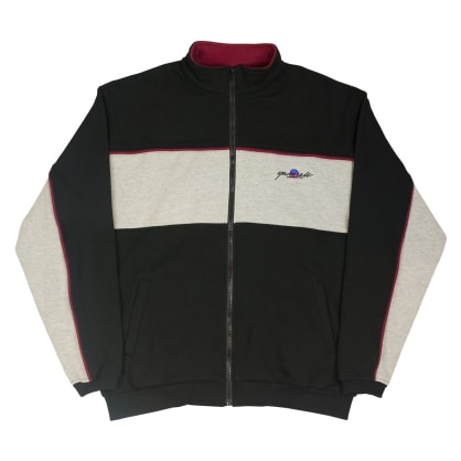 Yardsale Southside Track Top - Black/Heather