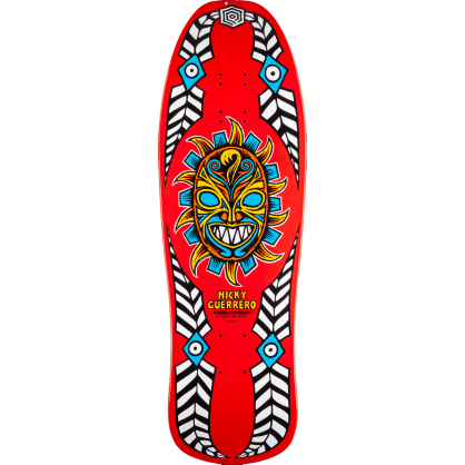 Powell Peralta Guerrero Mask Skateboard Deck Red - 10""