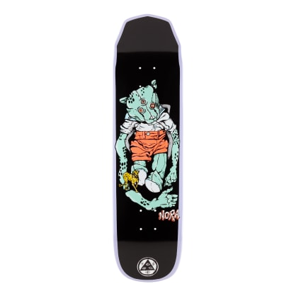 Welcome Skateboards Nora Vasconcellos Teddy on Wicked Princess Skateboard Deck Lavender Dip - 8.125""