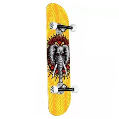 Powell Peralta Vallely Elephant 243 Yellow Complete Skateboard - 8.00