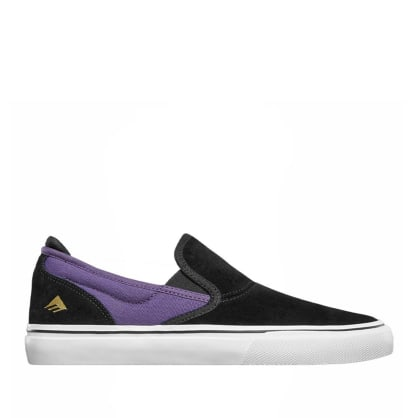 Emerica Wino G6 Slip On Skate Shoes - Black / Purple