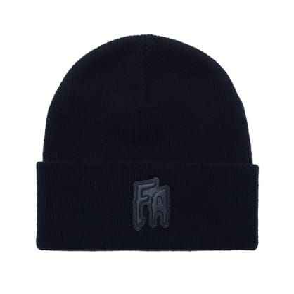 Fucking Awesome FA Applique Cuff Beanie - Black