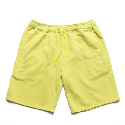 Chrystie NYC Garment Dye Classic Logo French Terry Sweat Shorts - Apple Green