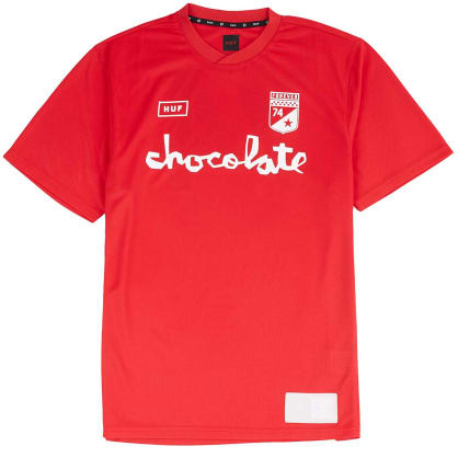 HUF X CHOCOLATE TORRANCE JERSEY - RED