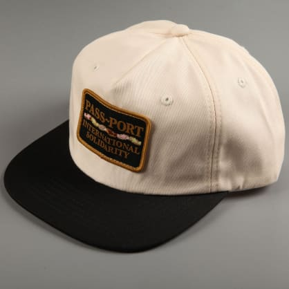 PassPort 'Intersolid Patch' 5 Panel Cap (Natural / Black)