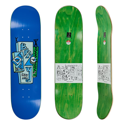 Polar Skate Co Dane Brady Skyscraper Blue Skateboard Deck - 8""
