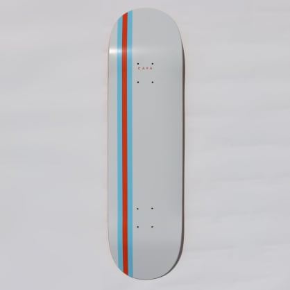 Skateboard Cafe Stripe Skateboard Deck White / Blue / Orange - 8.5""