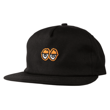Krooked Skateboards - Eyes Snapback Cap - Black / Orange