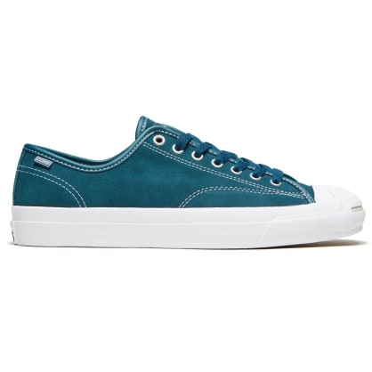 Converse Cons - Jack Purcell Pro OX (Suede) Shoes - Midnight Turquoise / White / White