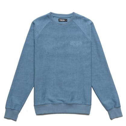 Chrystie NYC - Reversed French Terry crewneck_Stone Blue