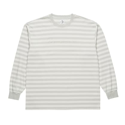 Polar Skate Co. Signature Striped Longsleeve T-Shirt - Grey