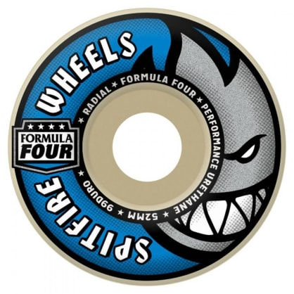 Spitfire Formula Four Skateboard Wheels Radial 99DU 52mm