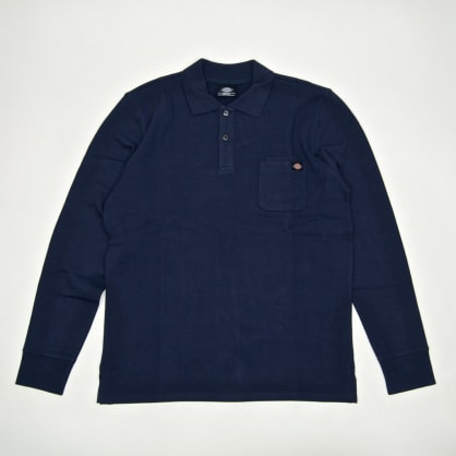 Dickies - Canmer Longsleeve Polo Shirt - Navy Blue