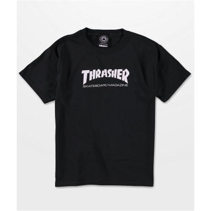 THRASHER MAG BOYS TEE - BLACK