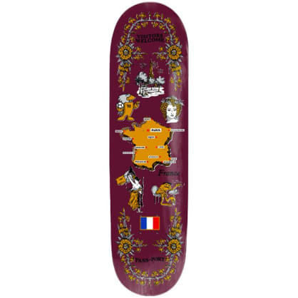 Pass~Port - Tea Towel - France - Skateboard Deck - 8.25""