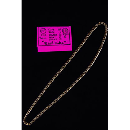 Curb Necklace - Gold 24 x 4mm