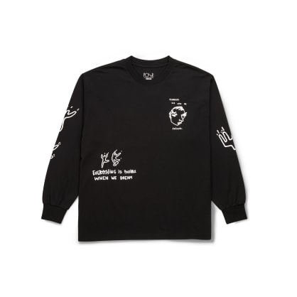 Polar Skate Co Notebook Long Sleeve T-Shirt - Black