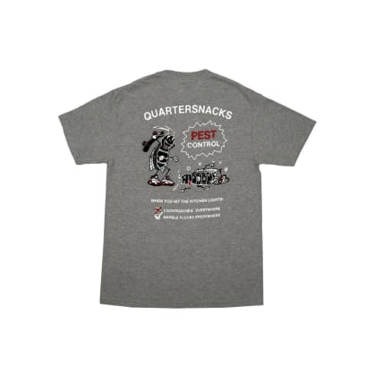 Quartersnacks - Pest Control Tee - Heather Grey