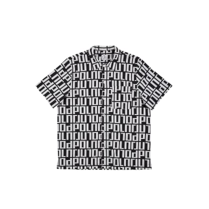 Polar Skate Co Square Logo Shirt - Black / White