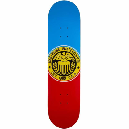 Birdhouse Blue/Red Eagle Logo Skateboard Deck - 8""