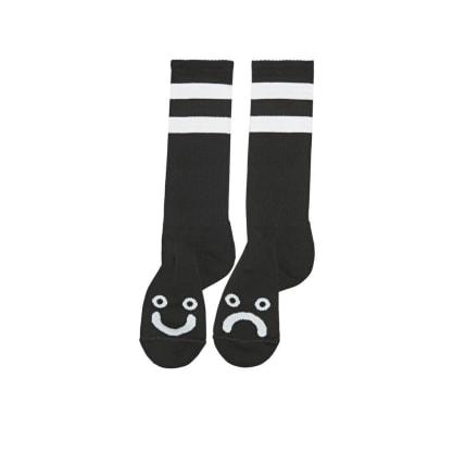 Polar Happy/Sad socks extra long - Black