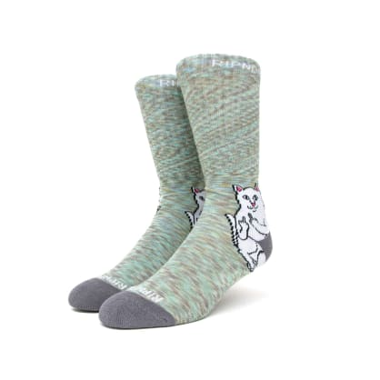 Rip n Dip Lord Nermal Socks - Grey Speckle