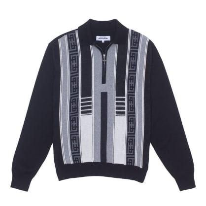 Fucking Awesome Polo Sweater - Black / Grey