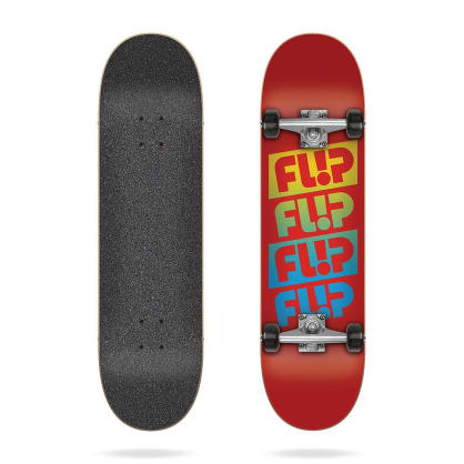 "Flip Skateboards - 7.88"" Team Quattro Red Complete Skateboard"