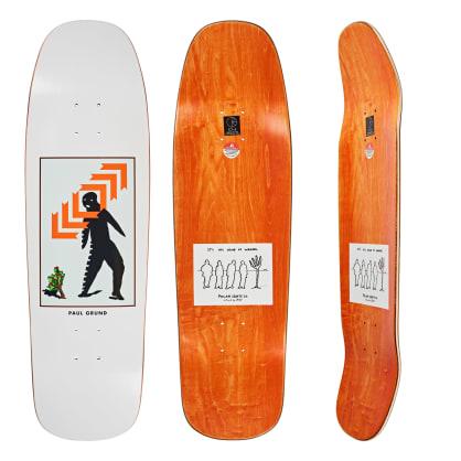 Polar Skate Co. Paul Grund Framed White Skateboard Deck - 1992 Shape