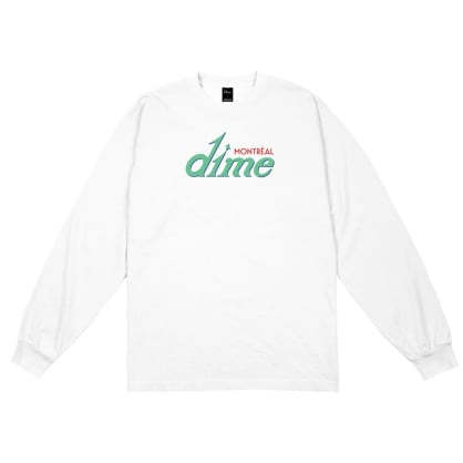 Dime Hotel Long Sleeve T-shirt - White