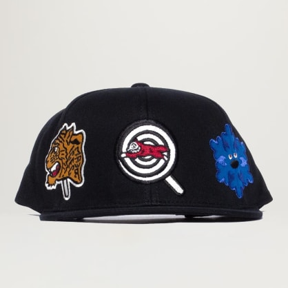 Icecream Patches Snapback Hat (Black)