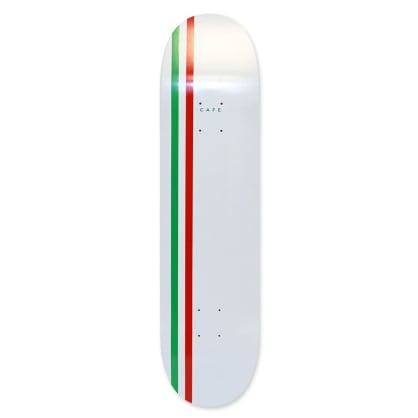 Skateboard Cafe Stripe Deck (White/Green/Red) 8.00""