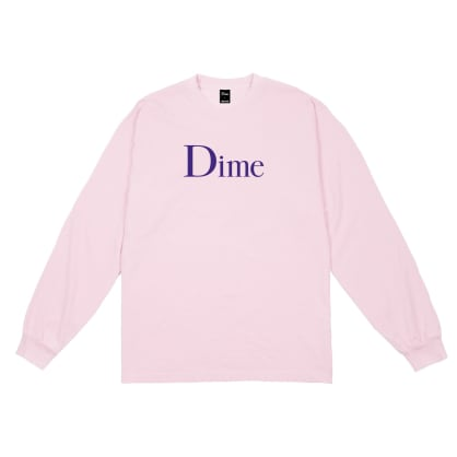 Dime Classic Logo Long Sleeve T-shirt - Light Pink