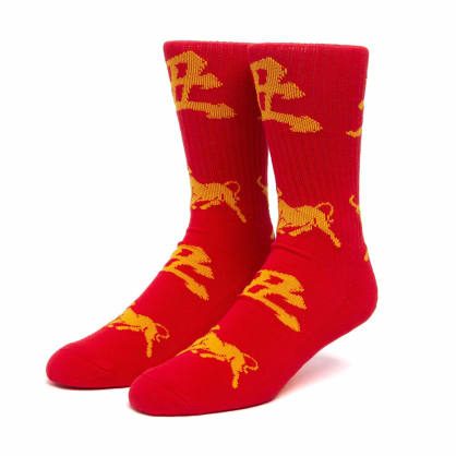 HUF Year of the Ox Crew Socks - Red