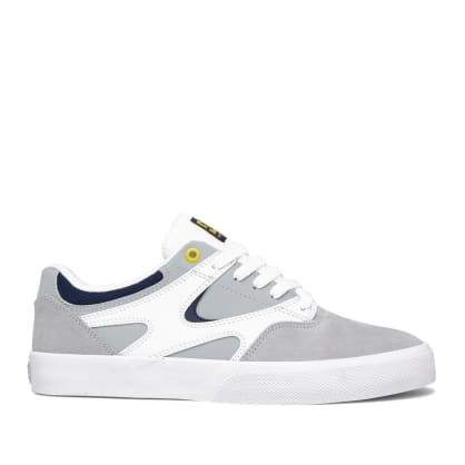 DC Kalis Vulc Skate Shoes - White / Grey / Grey