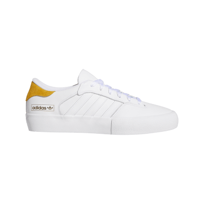 adidas Matchbreak Super Skate Shoes - FTWR White / Tactile Yellow / FTWR White