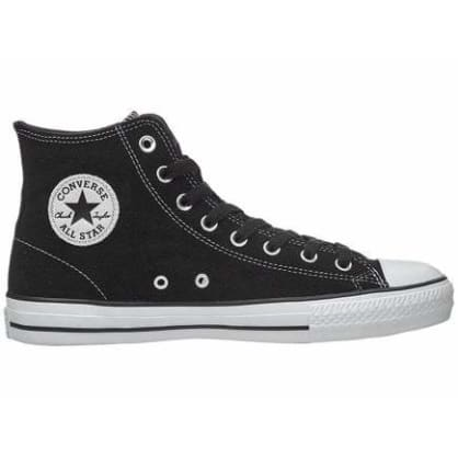 Converse CTAS Pro Hi Shoes - Black/Black/White Suede