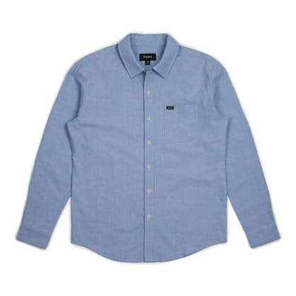 BRIXTON Charter Oxford Longsleeve Woven Light Blue Chambray
