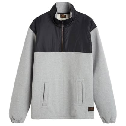 Levis Quarter Zip Sweater - Grey Heather - Black